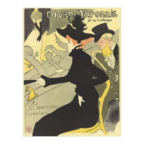 Henri de Toulouse-Lautrec // Divan Japonais // 1974 Lithograph