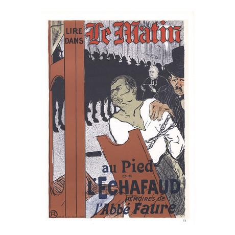 Henri de Toulouse-Lautrec // Le Matin Au pied de l'echafaud // 1966 Lithograph