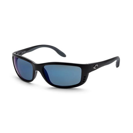 Unisex ZN11OBMP Sunglasses // Matte Black + Blue Mirror