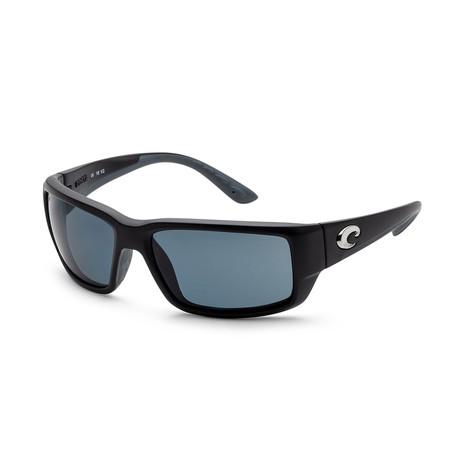 Unisex Fantail Sunglasses // Matte Black + Gray