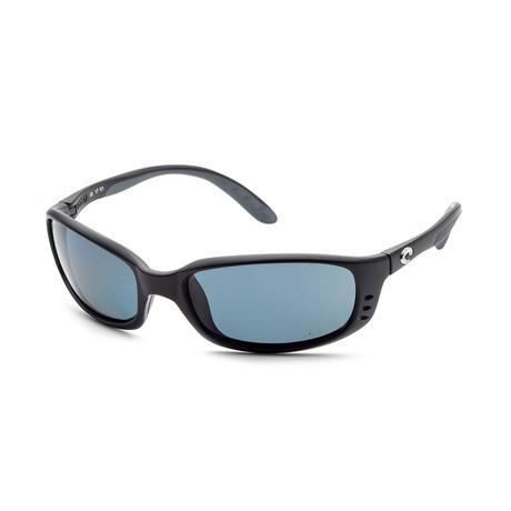 Unisex Brine Sunglasses // Matte Black + Blue Gray