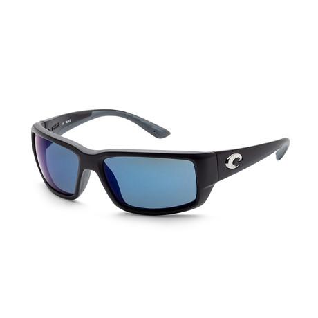 Unisex TF11OBMP Sunglasses // Matte Black + Blue Mirror