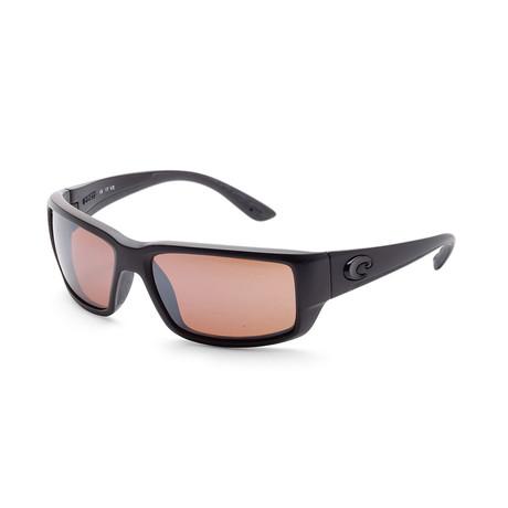 Unisex TF01OSCP Fantail Sunglasses // Blackout + Copper Mirror