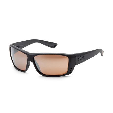 Unisex Cat Cay Sunglasses // Blackout + Copper Mirror