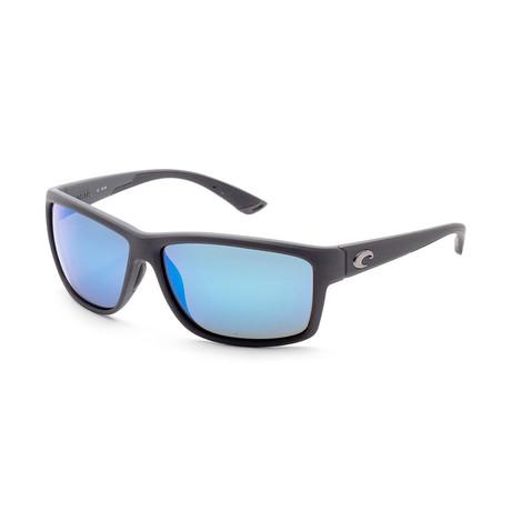 Unisex Mag Bay Sunglasses // Matte Gray + Blue Mirror