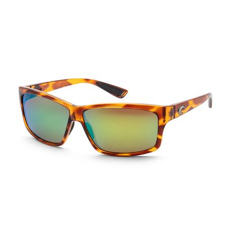Unisex Sunglasses // Honey Tortoise + Green Mirror
