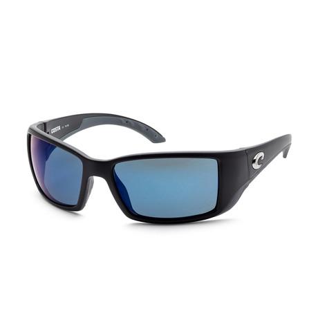 Unisex BL11OBMP Sunglasses // Matte Black + Blue Mirror