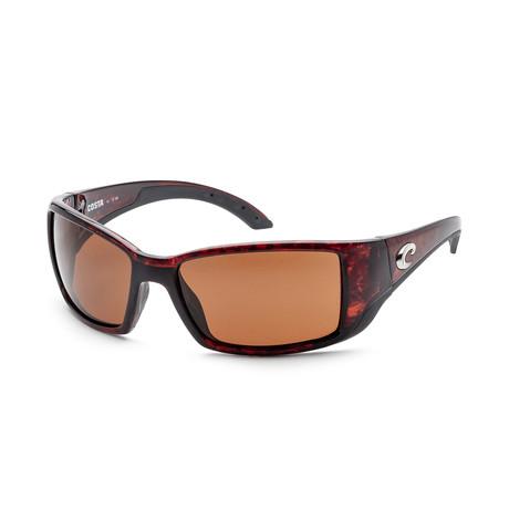 Unisex Blackfin Sunglasses // Tortoise + Copper Mirror