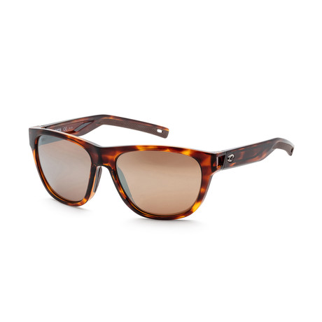Unisex Bayside Sunglasses // Tortoise + Copper Mirror