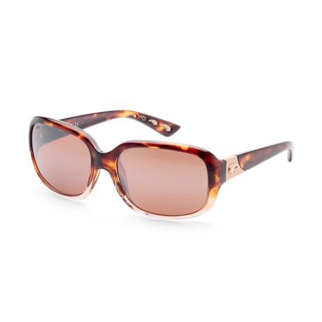Women's Gannet Sunglasses // Shiny Tortoise + Copper Mirror