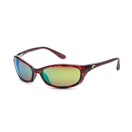 Unisex Sunglasses // Tortoise + Green Mirror
