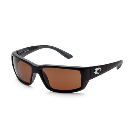 Unisex Fantail Sunglasses // Matte Black + Copper