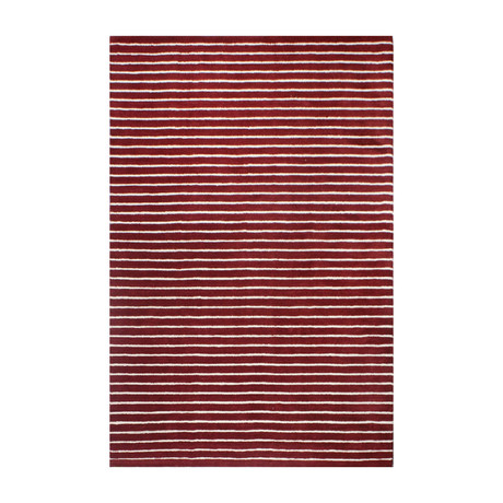 """Brentwood // Red (2'6"""" x 8')"""