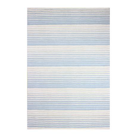 "Julie // Ivory + Light Blue (2'6"" x 8')"