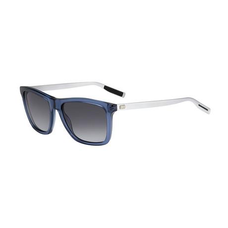 Men's Black Tie Sunglasses // Transparent Blue + Gray