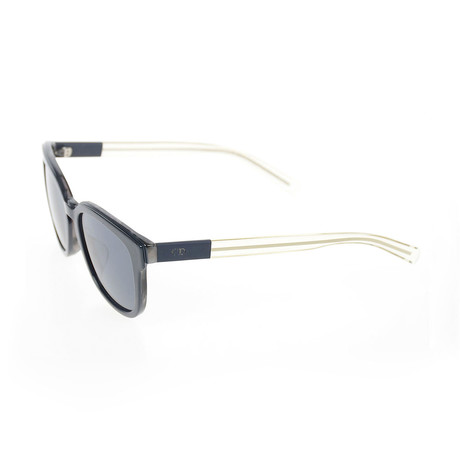 Men's Black Tie Sunglasses // Blue