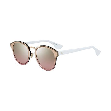 Women's Nightfall Sunglasses // Gold + White