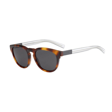 Men's Black Tie Sunglasses // Havana + Crystal + Gray