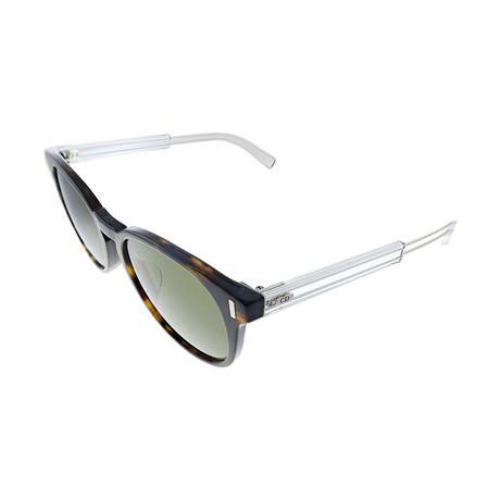 Men's Black Tie 2.0 Sunglasses // Dark Havana + Palladium + Green