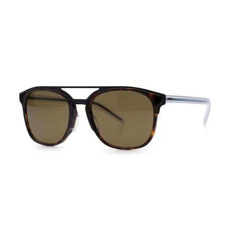 Men's Black Tie Sunglasses // Havana + Brown