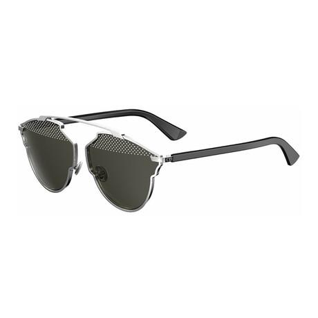 Men's Dior So Real Sunglasses // Silver, Black
