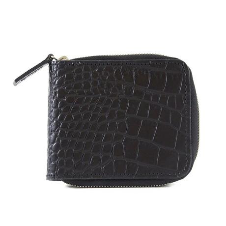 Bryant Park // Alligator Embossed Leather Zip-Around Wallet (Black)