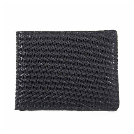 Chevron Embossed Ultra Slim Leather Wallet
