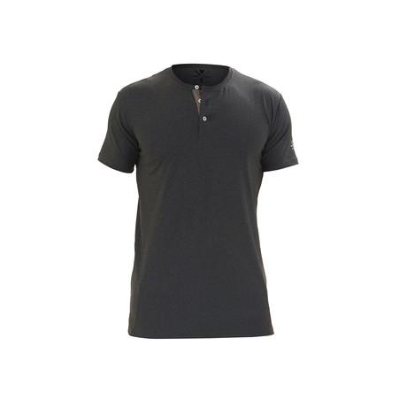 Revolution Short Sleeve Fitness Henley // Charcoal (S)