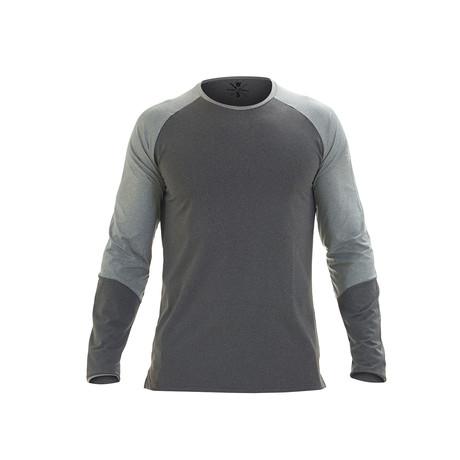 Ryker Long Sleeve Fitness T-Shirt // Gray (S)