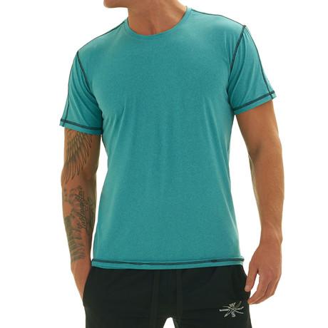 Elevate Short Sleeve Fitness T Shirt // Sea Foam Blue (S)