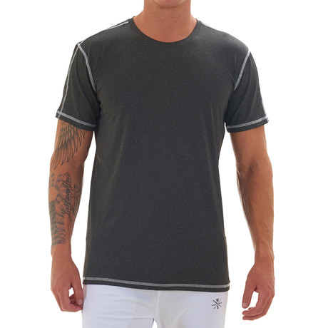 Elevate Short Sleeve Fitness T Shirt // Charcoal (S)