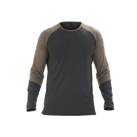 Ryker Long Sleeve Fitness T-Shirt // Charcoal (S)