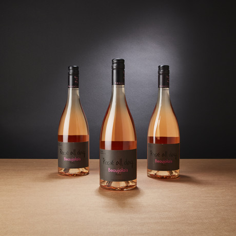 French Rosé from the Famed Beaujolais Region // Set of 3 // 750 ml Each