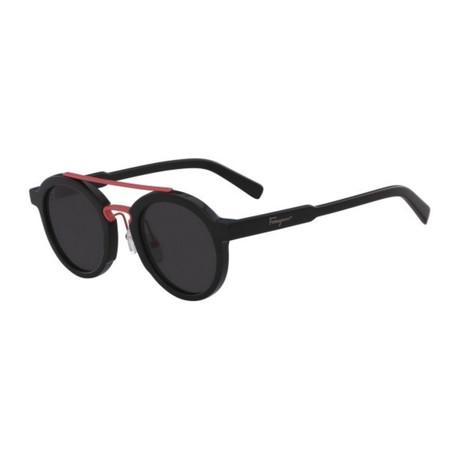 Unisex SF845S-969 Sunglasses // Black + Coral