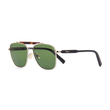 Men's SF198S-717 Sunglasses // Shiny Gold + Black