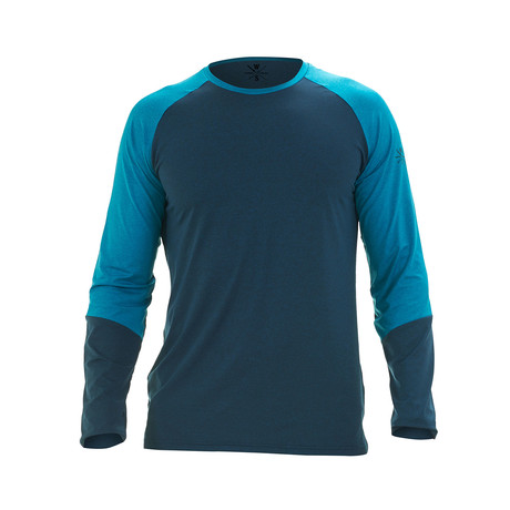 Ryker Long Sleeve Fitness T-Shirt // Blue (S)