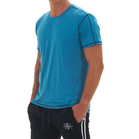 Elevate Short Sleeve Fitness T Shirt // Blue (S)