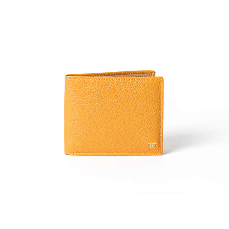 Leather Wallet // Mustard