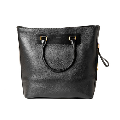 Leather Tote Bag // Black