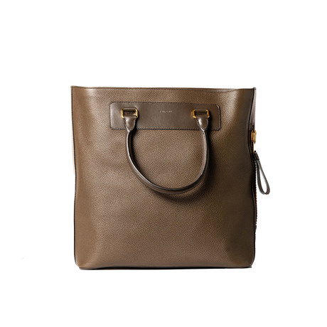 Leather Tote Bag // Brown
