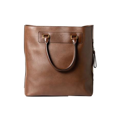 Leather Tote Bag // Cognac Brown