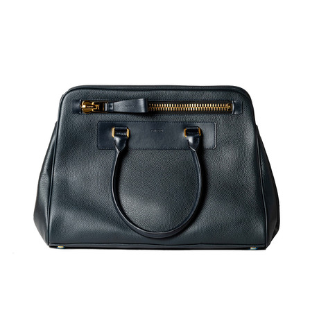 Leather Briefcase // Midnight Blue