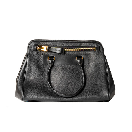 Leather Briefcase // Black