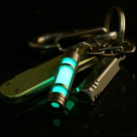 TEC T3 Titanium Glow Fob (Green Glow)