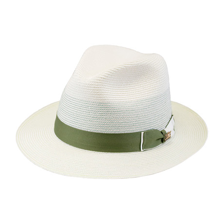 Tolouse Hat // White + Green (6.75)