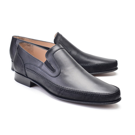 Plain Toe Loafer // Black (US: 7)
