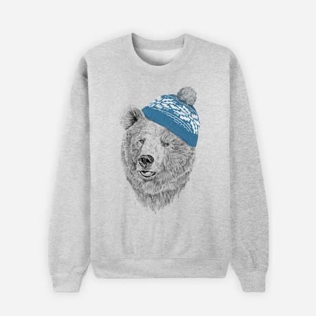 Hello Winter Sweatshirt // Gray (S)