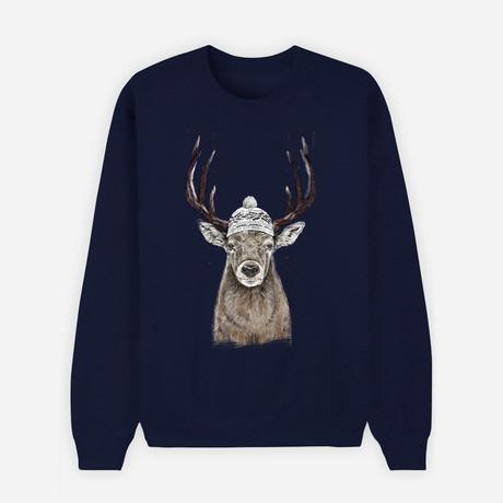 Let's Go Outside Sweatshirt // Navy (S)