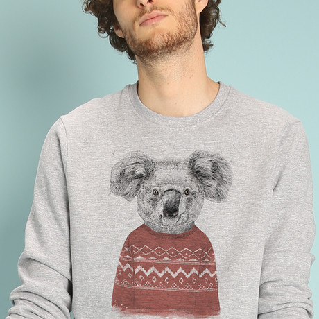 Winter Koala Sweatshirt // Gray (S)