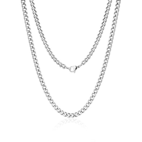 "Steel Cuban Link Necklace // 10mm // Silver (20""L)"